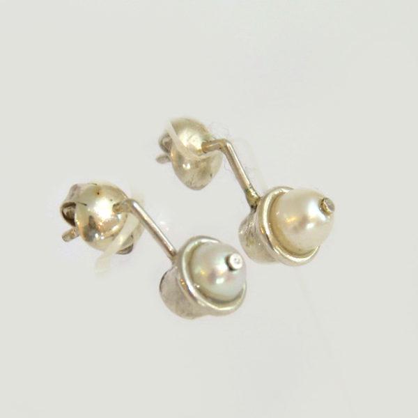Aros perlas suspendidas