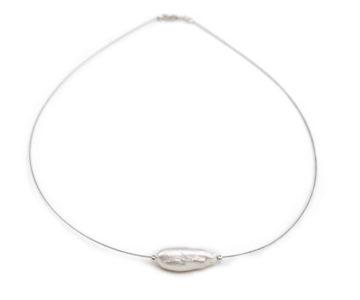 Collar Tanza con perla cultivada de río